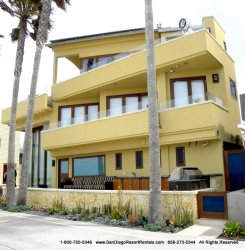 Front view of ocean front vacation rental