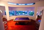 View of pool table room
