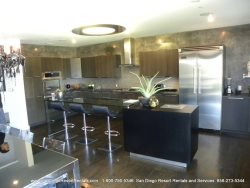 View of spacious fully equipped kitchen
