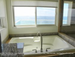 Bathtub with ocean view and realaxation