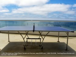 More fun by the beach with the ping pong table