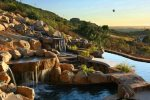 Breathtaking view of waterfalls will help you relax