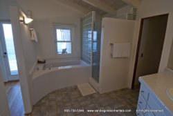Master bath comes equipped with both shower and bathtub