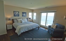 Large junior suite with king bed, en suite bath and beautiful ocean views