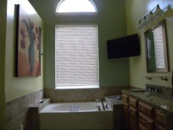 Master Bath with Jacuzzi and TV