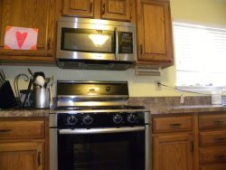 Stainless Steel Appliances plus built in microwave