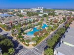 Arial View of the Amazing Resort Style Pool in the center of the community
