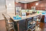 Fully Equipped Kitchen with Large Breakfast Bar