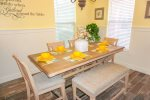 Elegant Dining Area with Seating Available for 6