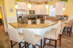 Fully Equipped Kitchen with Stainless Steel Appliances & Everything you need to cook Fabulous Meals
