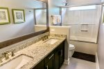 Shared Hall Bath Second Floor with Double Vanity and Tub/Shower Combo