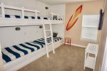 Second Floor Custom Bunk Room with 2 sets of Twin Over Twin Bunks