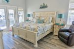 King Master Suite with Private Bath and Cover Porch Access with Gulf View