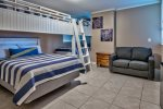 Custom Bunk Room With 3 Twin & 1 Queen Bed