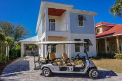 Seas and Greetings~  Custom Coastal Beach Home Just 1 Block from the beach with 6 Seater Golf Cart!