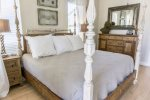 Second Floor King Master Suite with huge back porch overlooking the pool & Private Bath