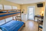 Third floor with Twin/Full Bunk, Wet Bar, and Front and Rear Porches  SUNSETS
