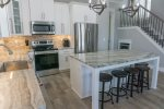 Stainless Steel Appliances and Granite Counter Tops and Under Counter Ice Maker