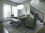 Elegant Dining Area Comfortably Seats 6