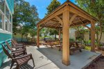 Outdoor Lounging Area with Covered Gazebo