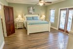 Second Floor King Master Suite with Porch Access, Kitchenette, & Private Bath