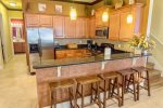 FABULOUS kitchen with breakfast bar and barstools