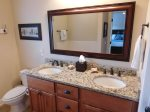 Large Master Bathroom on First Floor with Double Vanity