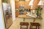 Fully Equipped Kitchen With Breakfast Bar And Additional Seating for 2