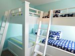 Second Flor Custom Bunk Room with One Full Over Full and One Twin Over Twin