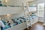 Custom Built Bunk Room with Twin over Full Double Bunk Room