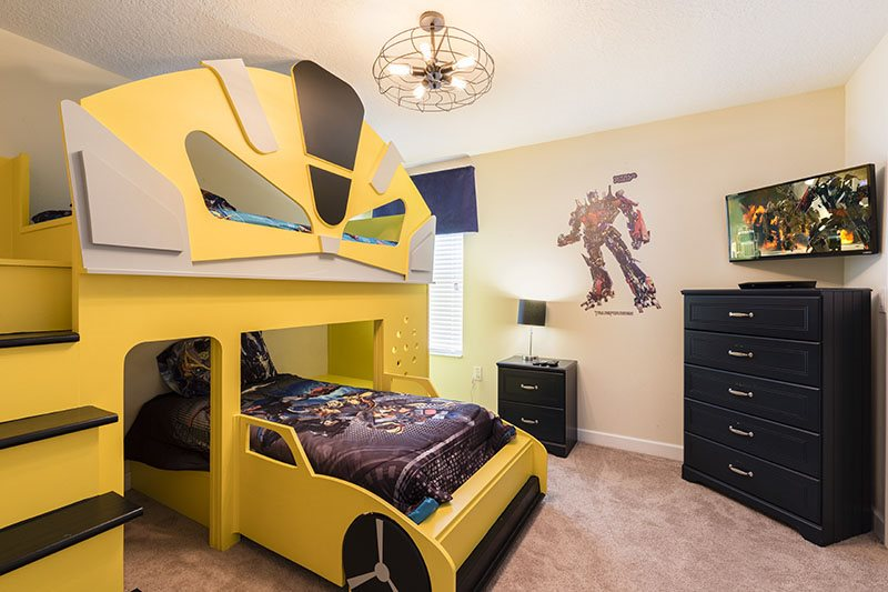Transformers Themed Room With Custom Twin Bunk Beds