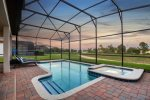 Complete your evenings while relaxing by your own private pool