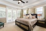 Make your way upstairs to stay in the comfort of this beautiful master bedroom