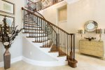 The foyer welcomes you into the home with elegance