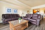 Ample sofa seating for all to enjoy