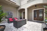 Luxurious outdoor furniture in a private courtyard