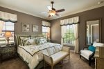 Take a nap or catch up on reading in upstairs master suite 3 bedroom