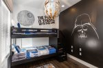 The force will be strong with this bedroom featuring a twin bunk bed