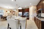 The kitchen is perfect for cooking meals for the entire family to enjoy