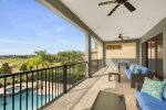 The balcony provides a great space to hangout whilst enjoying the Florida sun