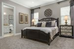 Second floor master king bedroom with neutral tones