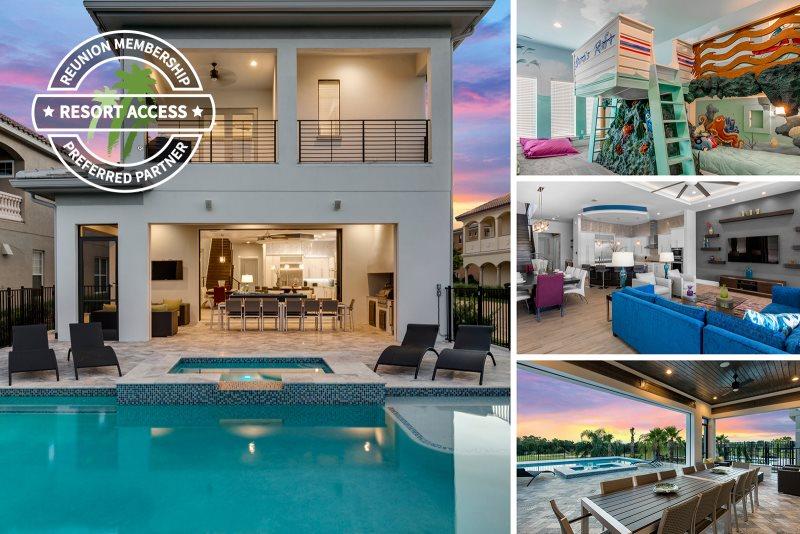 6 Bed 6 Bath Luxury Villa Golden Bear Retreat Reunion Fl