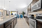 Modern kitchen is perfect for fixing meals for the entire family