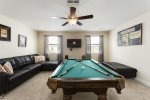 Enjoy a movie together or challenge each other to a game of pool in the loft