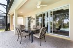 Enjoy a meal together al fresco out in the lanai