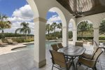 Meals on the pool deck with views of the golf course are ideal
