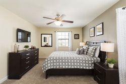 This bedroom is decorated to a high standard for your comfort