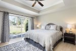 Get well rested in this downstairs master bedroom with private patio access