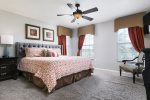 Come home to complete comfort with this upstairs king bedroom