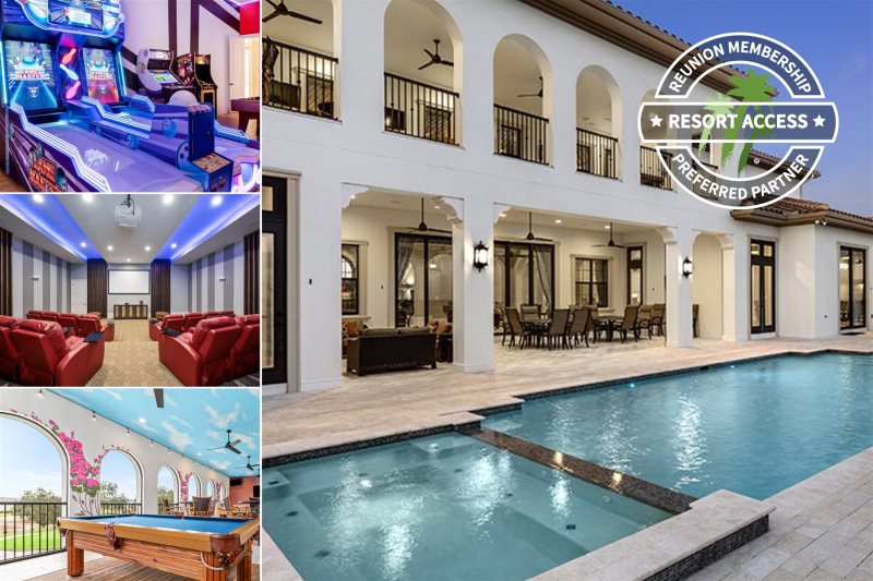 Admirable Large Luxury Vacation Rental The Retreat Reunion Orlando Fl Home Interior And Landscaping Palasignezvosmurscom
